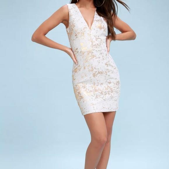 259fd8e02750 CODY GOLD   WHITE Reversible Sequins Bodycon Dress